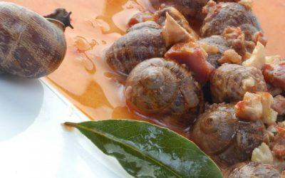 Caracoles en salsa con jamón